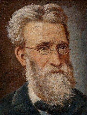 Joaquín Pinto. Autorretrato, siglo XIX, pintura sobre tela.