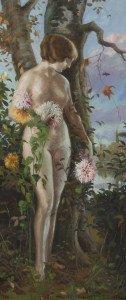 Desnudo de mujer, Nicolás Delgado, siglo XX.