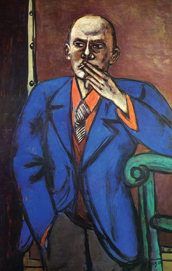 Selfportrait in blue jacket, 1950.
