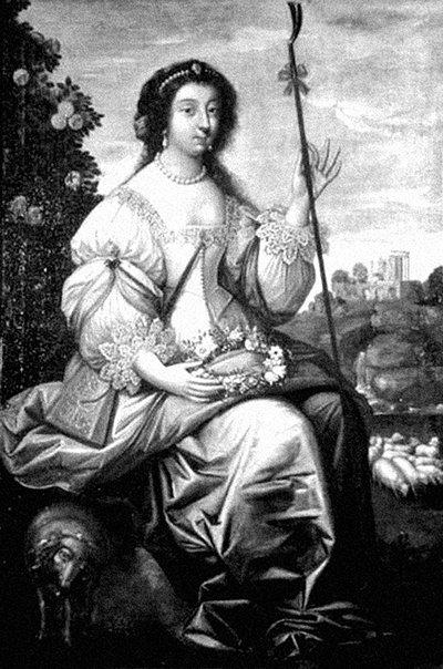 Julie Luciana d'Angennes, llamada la incomparable Julia, nacida en París en 1607, hija del marqués de Rambouillet y de Catherine de Vivonne, ayudó a su madre en el chambre bleue.