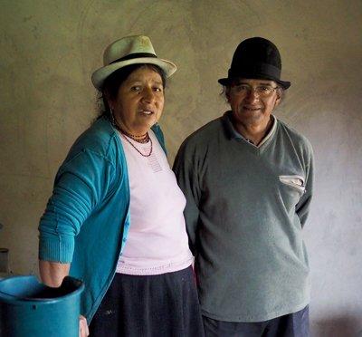 Los padres de Samuel Ortega.