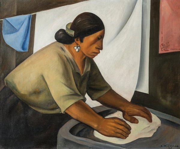 Lavandera, Eduardo Kingman, 1940.