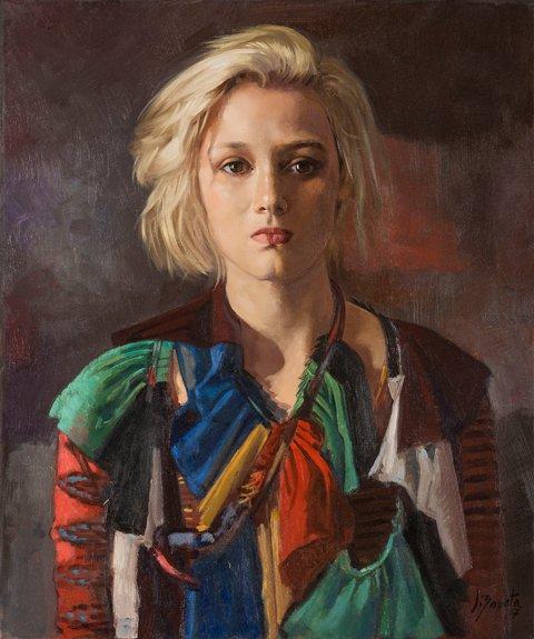 Margot en Gautier, 46 x 55 cm.