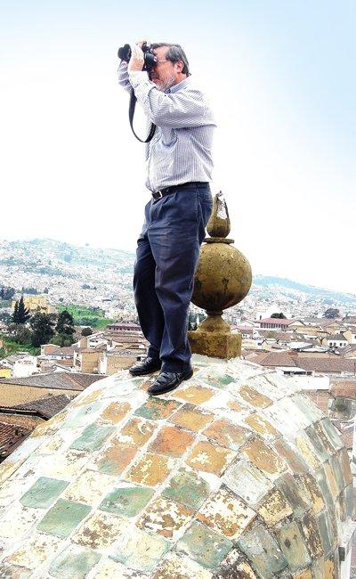 La fotografía es uno de los placeres que se permite Alfonso cuando no está dedicado al patrimonio.