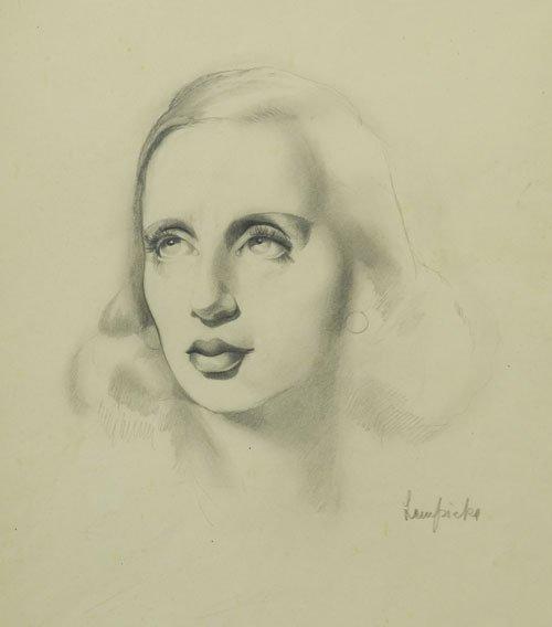 Autorretrato, 1939, lápiz sobre papel.