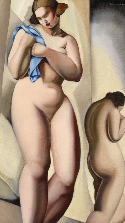 Dos desnudos en perspectiva, 1925, óleo sobre lienzo.