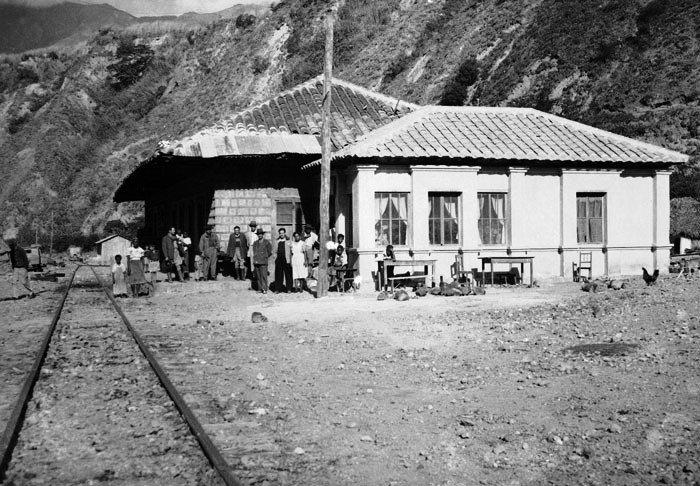 Estación Carchi en los años cincuenta.
