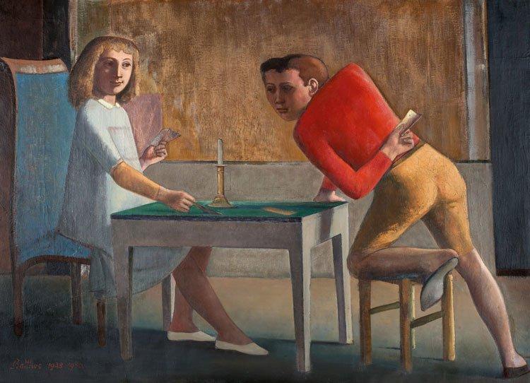 La partida de naipes, 1948 - 1950.