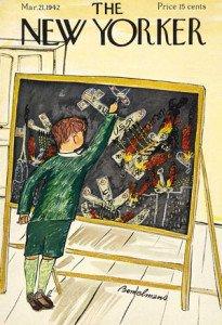 Una de las tantas portadas que ilustró para el periódico The New Yorker.