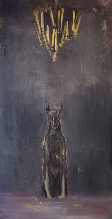 El perro, óleo sobre lienzo, 2017.