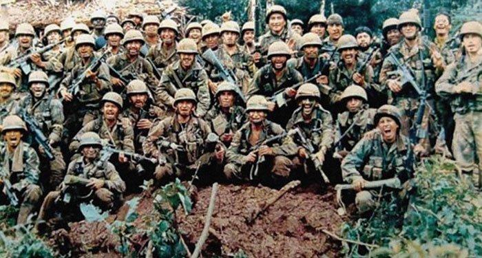 Soldados ecuatorianos, en el alto Cenepa, 1995.