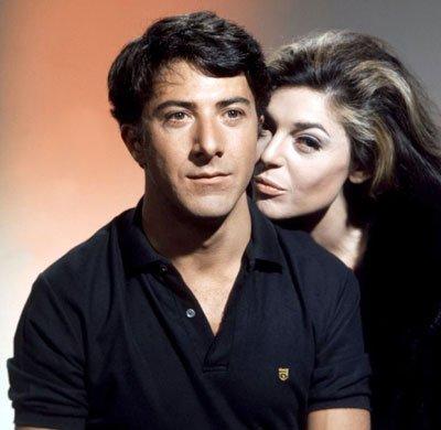 Dustin Hoffman y Anne Bancroft en la película El graduado.