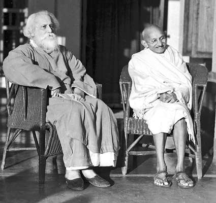 Tagore y Gandhi.