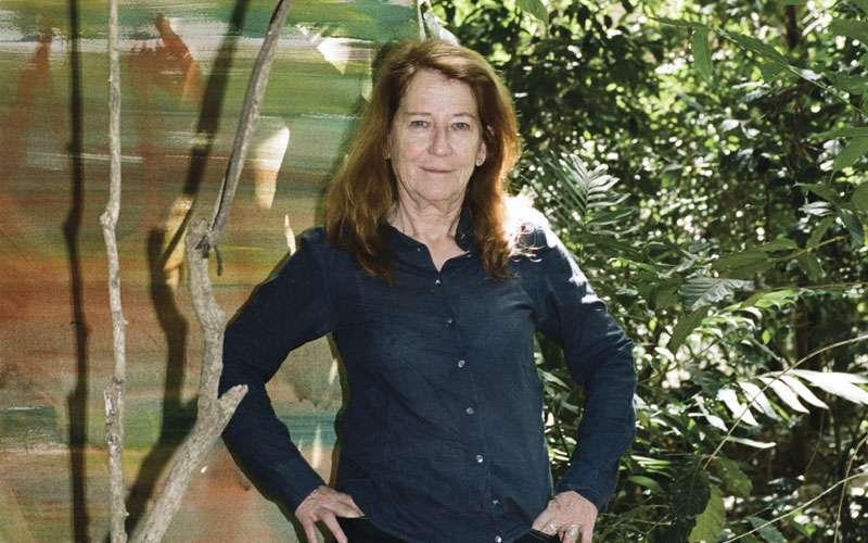 Vivian Suter en su casa en Guatemala.